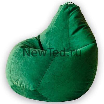 Кресло мешок из микровельвета зеленого