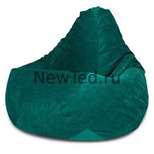 Кресло мешок Изумрудный микровельвет