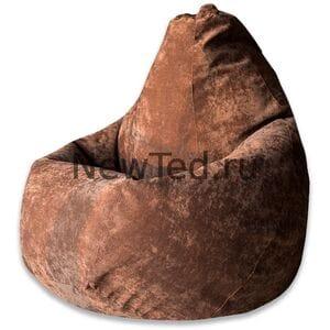 Кресло мешок Коричневый микровельвет