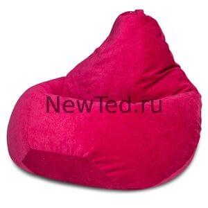 Кресло мешок Малиновый микровельвет