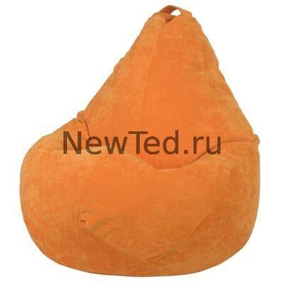 Кресло мешок из микровельвета оранжевого