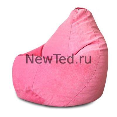 Кресло мешок из микровельвета розового