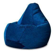 Кресло мешок Синий микровельвет
