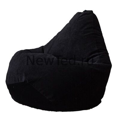Кресло мешок из микровельвета черного