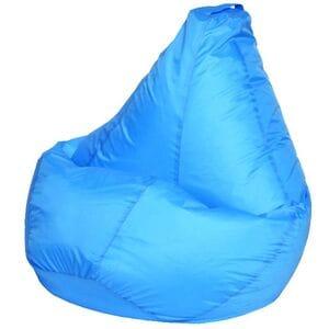Кресло мешок голубое оксфорд