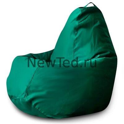 Кресло мешок из ткани фьюжн зелёное