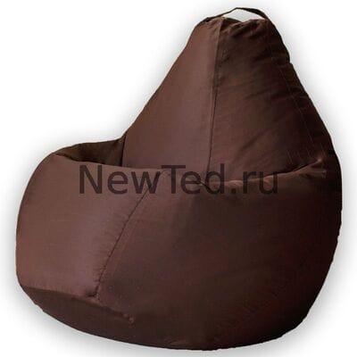 Кресло мешок из ткани фьюжн коричневое