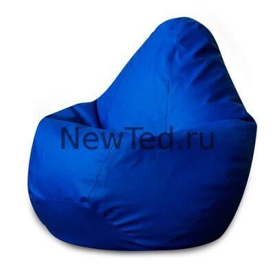 Кресло мешок из ткани фьюжн синие