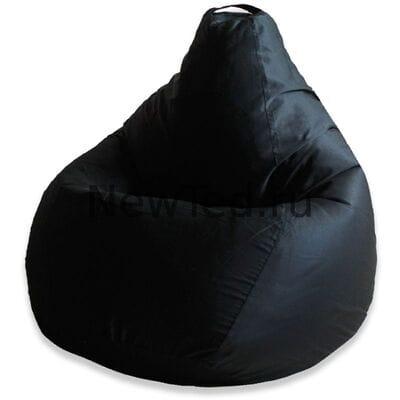 Кресло мешок из ткани фьюжн чёрное