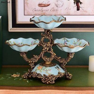Нежный голубой в декоре интерьера - уникальные вазы