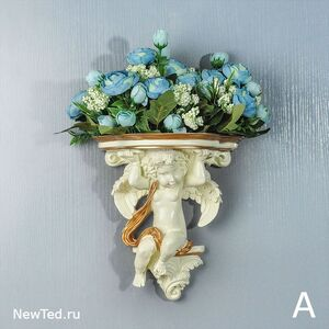 Декоративная ваза на стену  с цветами