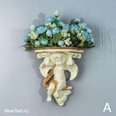 Купить  вазу на стену  с цветами