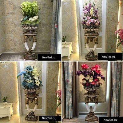 Декоративные вазы напольные высокие