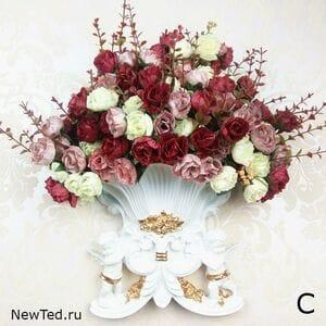 Декоративная ваза на стену  2 ангела