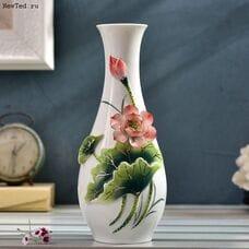 Керамическая ваза изысканный ручной работы