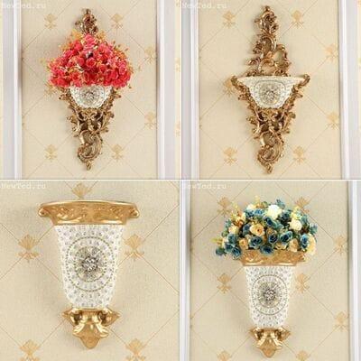 Декоративны вазы с цветами