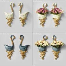 Декоративные настенные вазы Лебеди