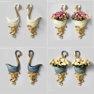 Роскошные настенные вазы