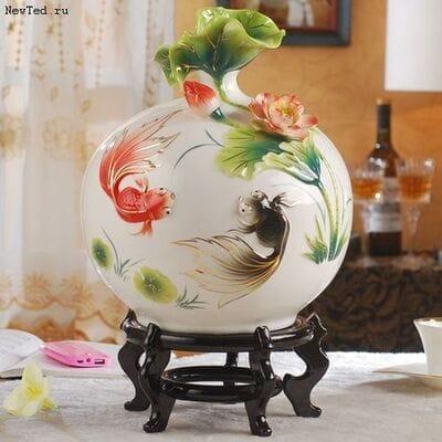 3D ваза с рыбками - украшение для вашего удовольствия