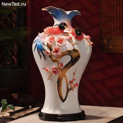 Живые птицы на вашем столе - 3D ваза