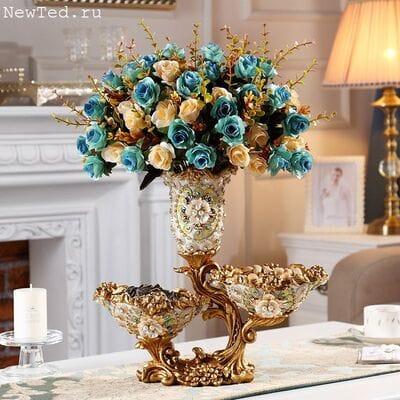 Роскошные вазы для цветов и фруктов