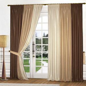 Комплект штор  К313-2 коричневые