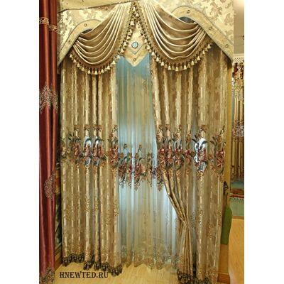 Купить красивые шторы с ламбрекеном