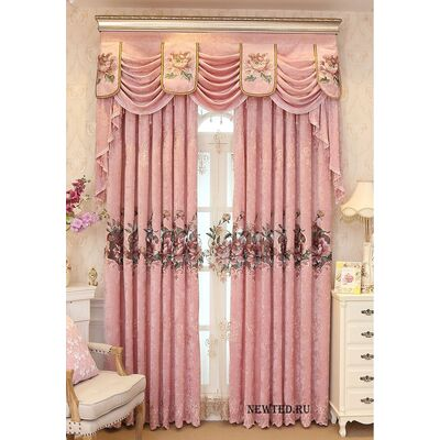 Купить розовые шторы