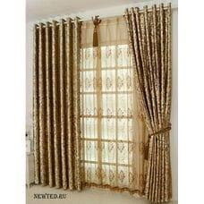 Современные шторы под золото