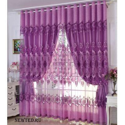Готовые шторы фиолетовые купить