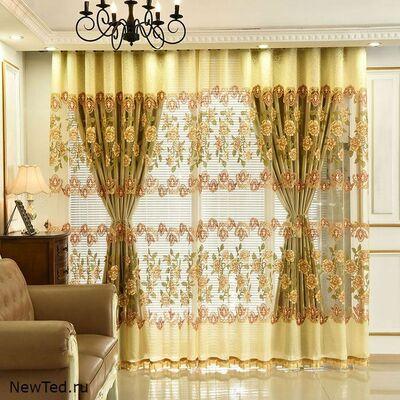 Заказать красивые желтые шторы