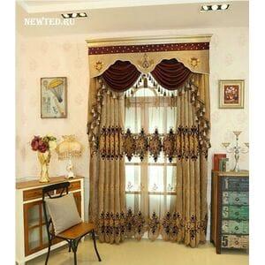 Невероятные коричневые шторы с тюлью