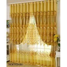 Штор для спальни жёлтые