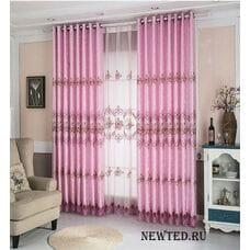 Розовые шторы №.350