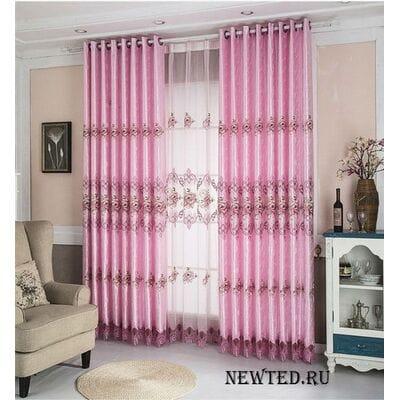 Розовые шторы купить