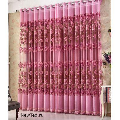 Заказать красивые розовые шторы