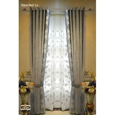 Купить шикарные серые шторы