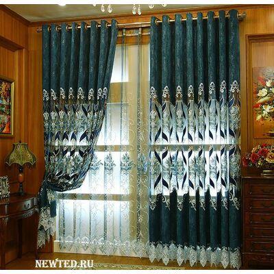 Купить живописный комплект штор в зал