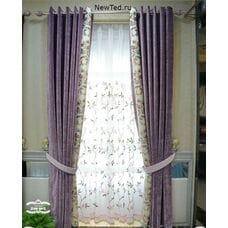 Фиолетовые шторы шениль
