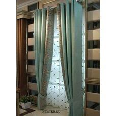 Готовые шторы голубые