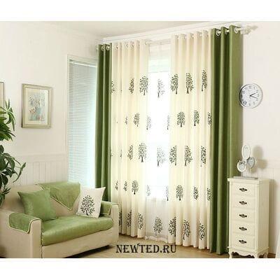 Купить шторы зеленые
