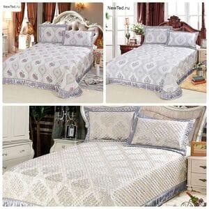 Стильное покрывало для двуспальной кровати