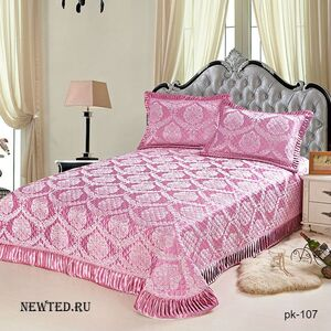 Покрывало и набор наволочек «Розовое море»