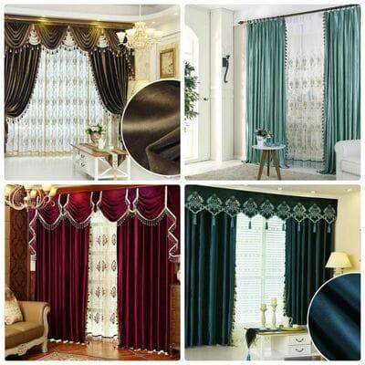 Изюминка вашей гостиной - бархатные шторы