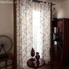 Легкие шторы с тюлью