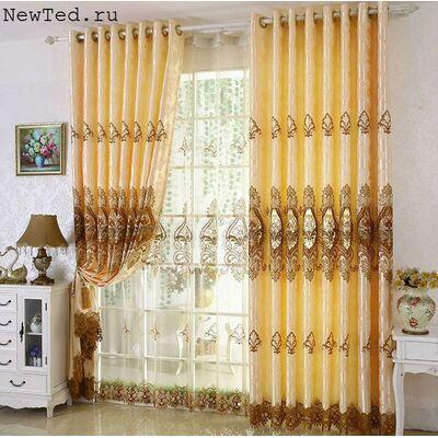 Роскошные шторы и изысканная тюль
