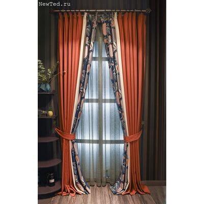 Восхитительный дизайн штор для спальни фото