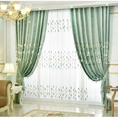 Бесподобные шторы с тюлью для спальни