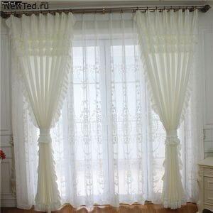 Комплект белых штор