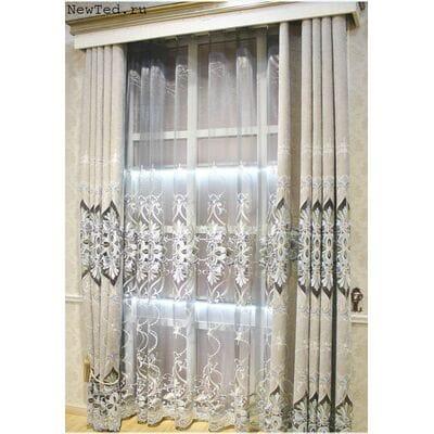 Красивые вышитые шторы